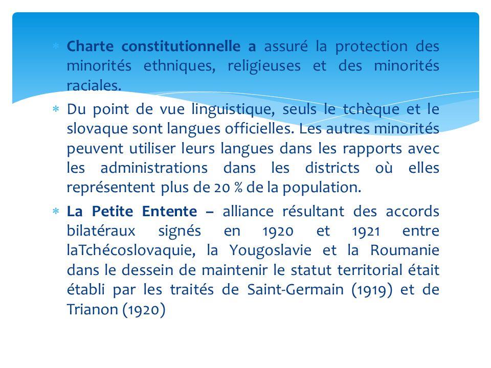 Charte constitutionnelle a assuré la protection des minorités ethniques, religieuses et des minorités raciales.