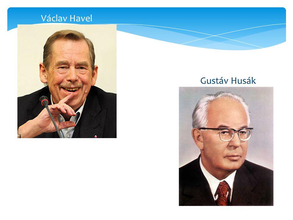 Václav Havel Gustáv Husák