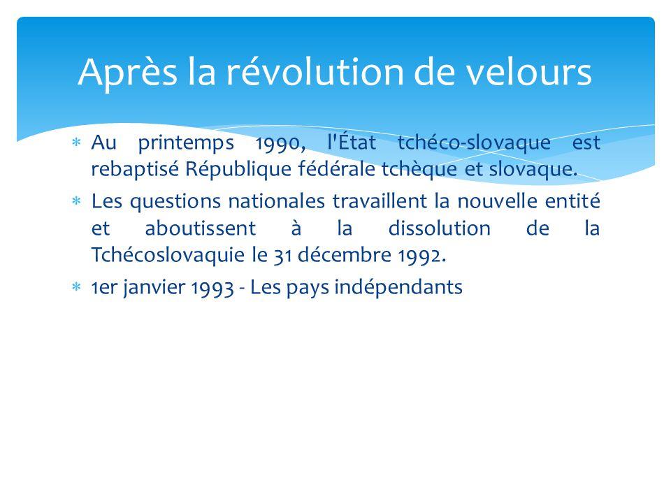 Après la révolution de velours