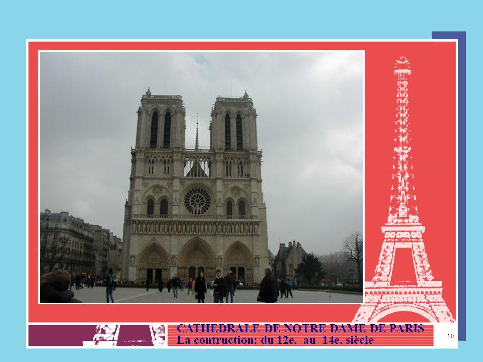 CATHEDRALE DE NOTRE DAME DE PARIS