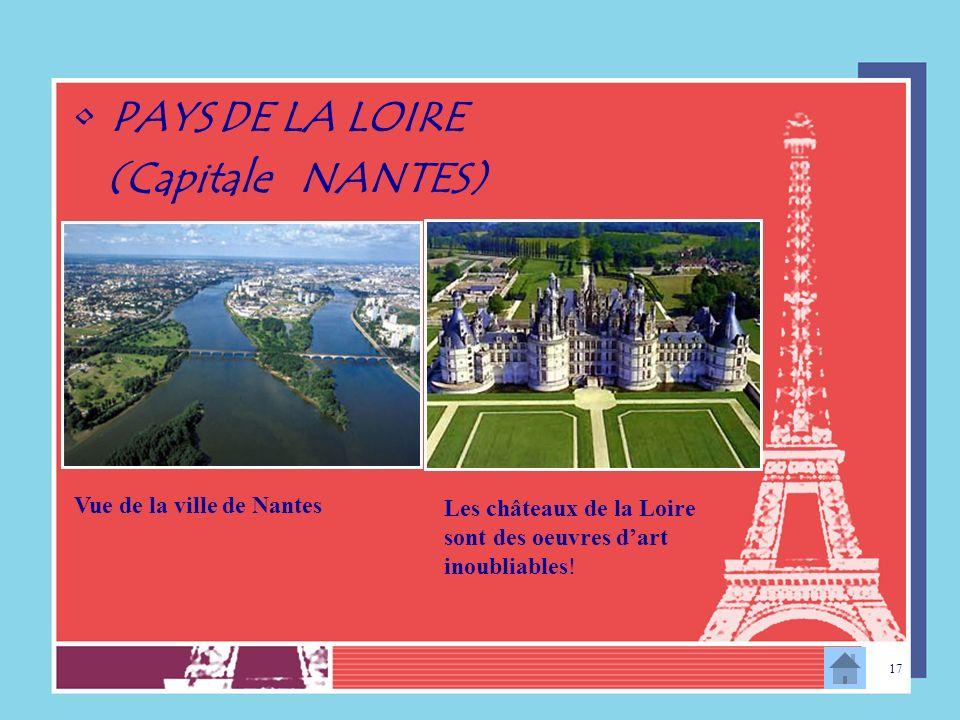 PAYS DE LA LOIRE (Capitale NANTES) Vue de la ville de Nantes