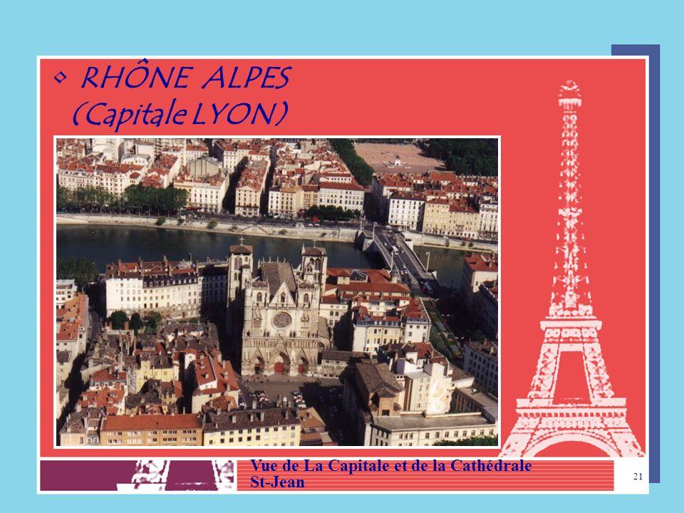 RHÔNE ALPES (Capitale LYON) Vue de La Capitale et de la Cathédrale
