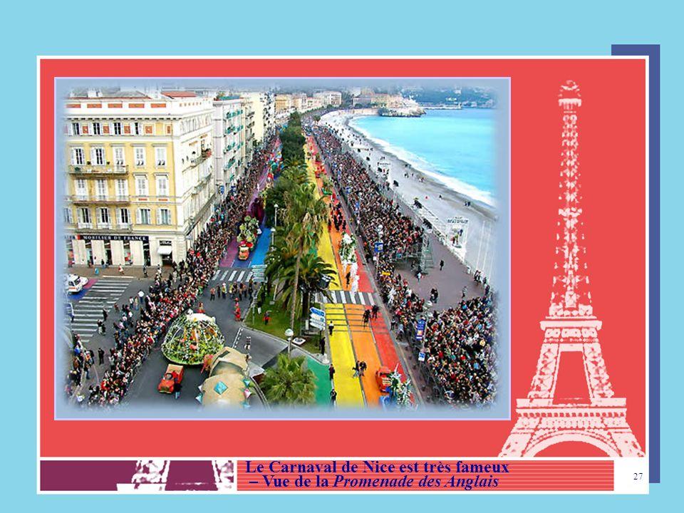 Le Carnaval de Nice est très fameux
