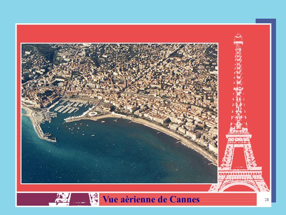 Vue aèrienne de Cannes