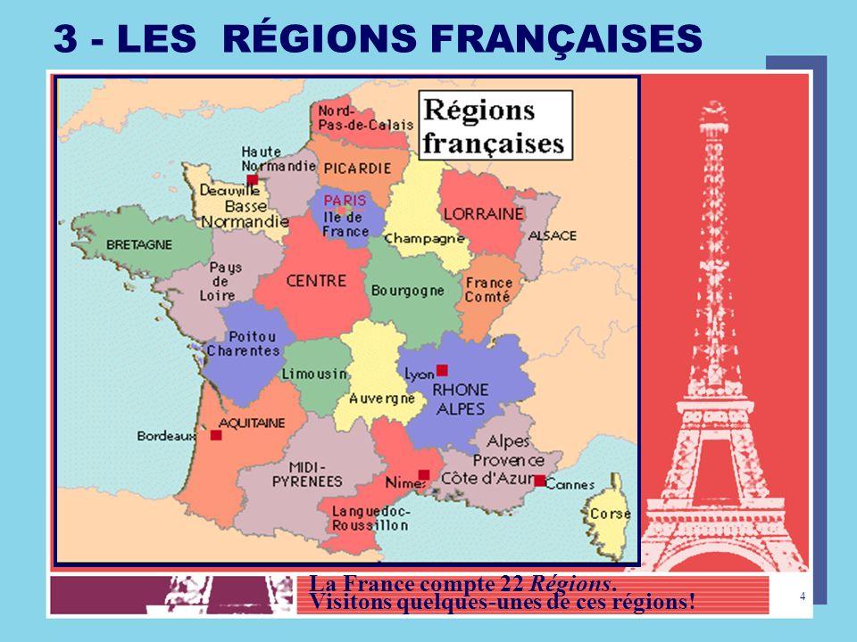 3 - LES RÉGIONS FRANÇAISES