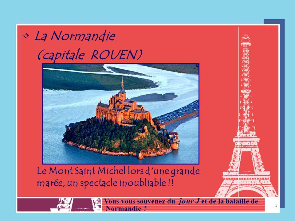 La Normandie (capitale ROUEN)