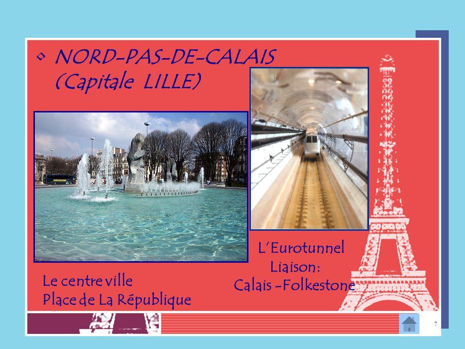 NORD-PAS-DE-CALAIS (Capitale LILLE)