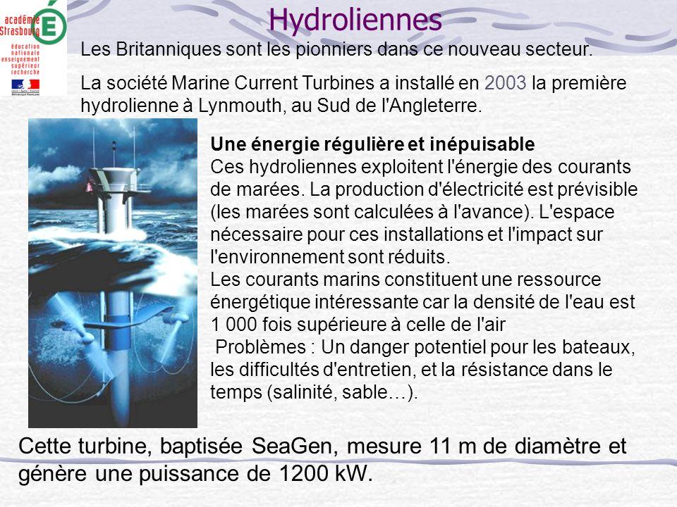 Hydroliennes Les Britanniques sont les pionniers dans ce nouveau secteur.