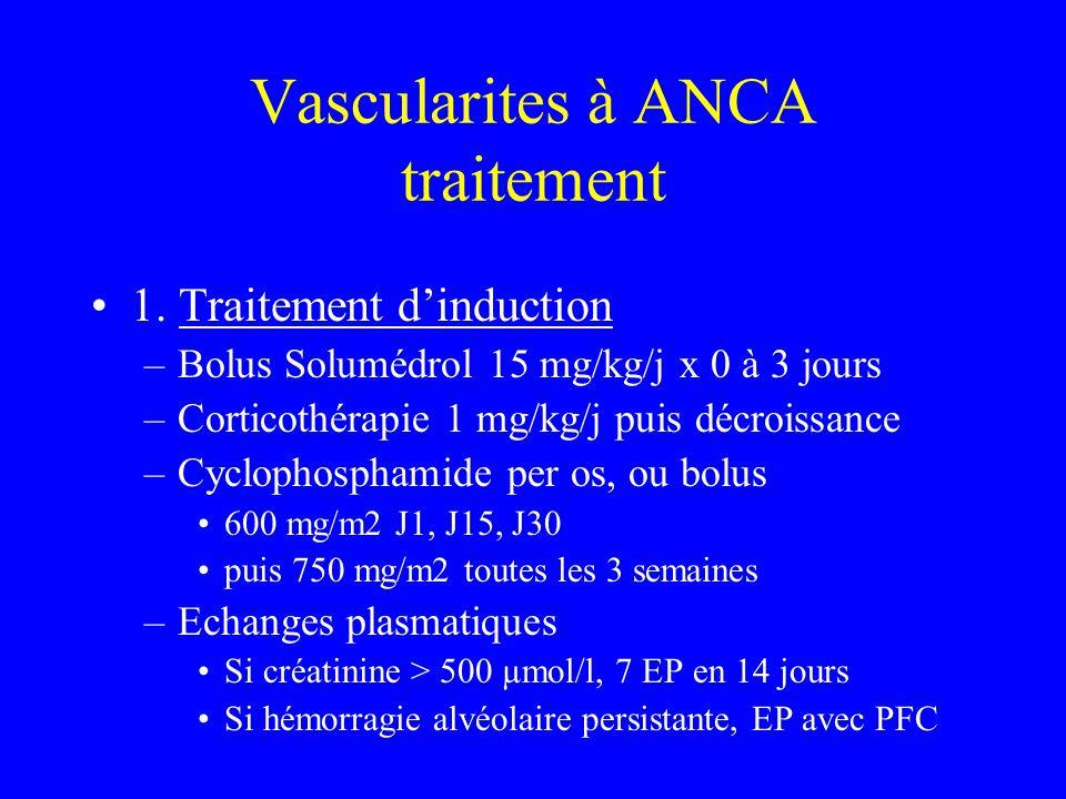 Vascularites à ANCA traitement