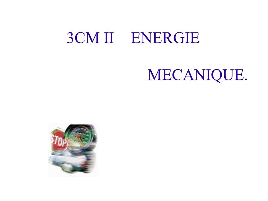3CM II ENERGIE MECANIQUE.