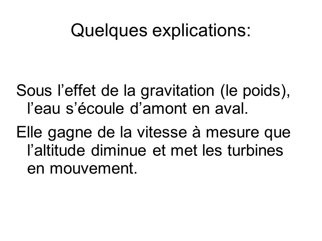 Quelques explications: