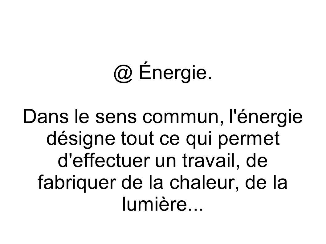 @ Énergie.