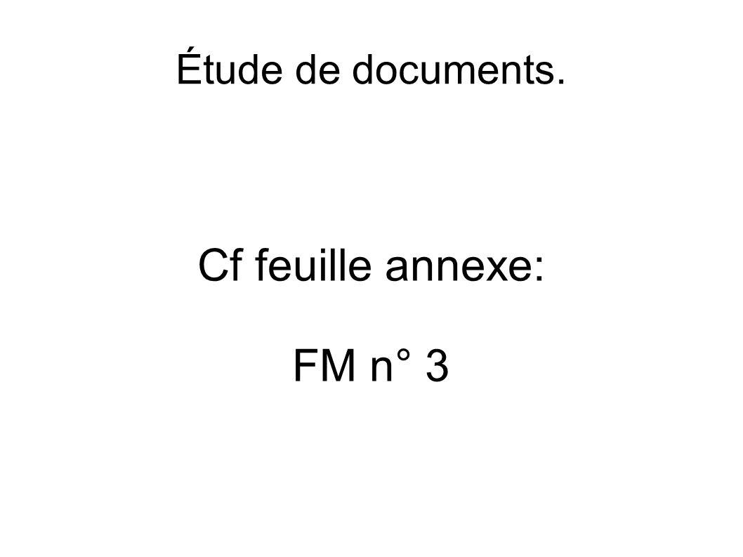Cf feuille annexe: FM n° 3