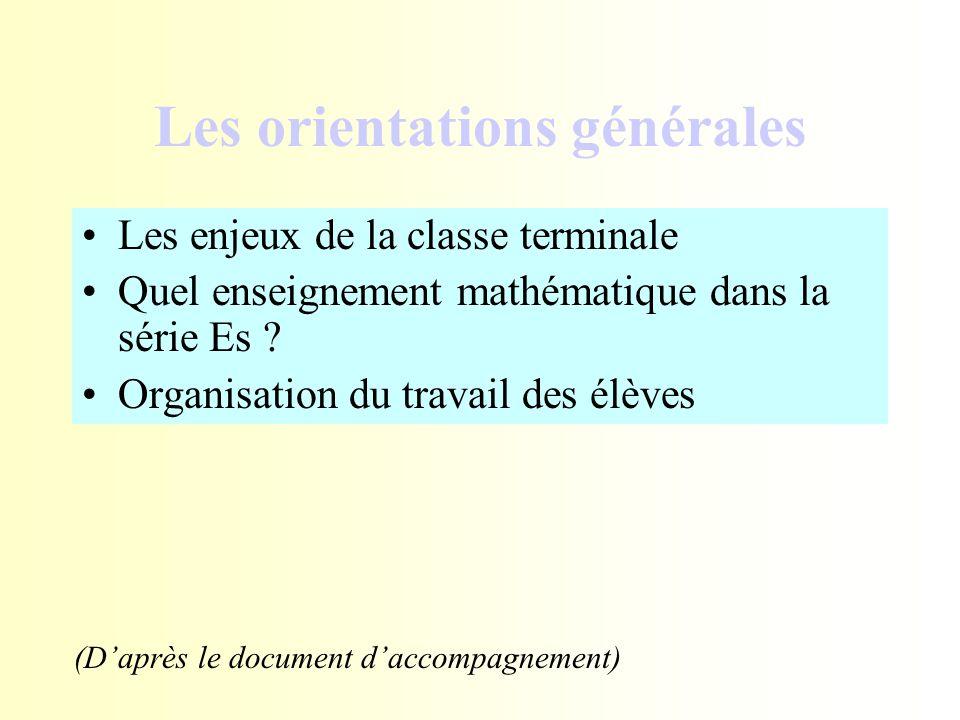 Les orientations générales