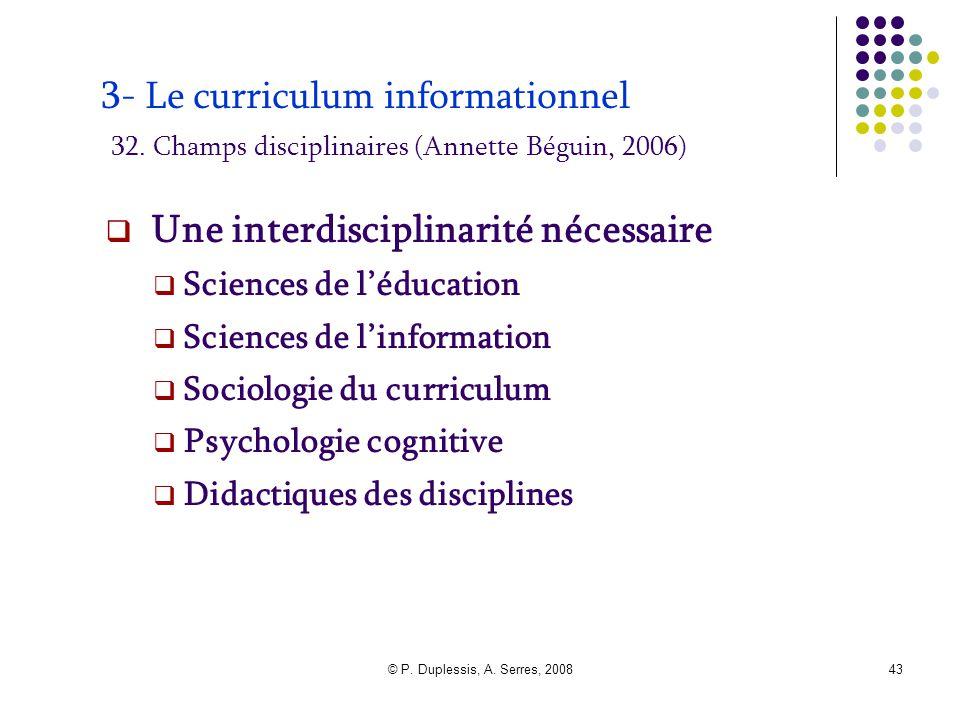 Une interdisciplinarité nécessaire