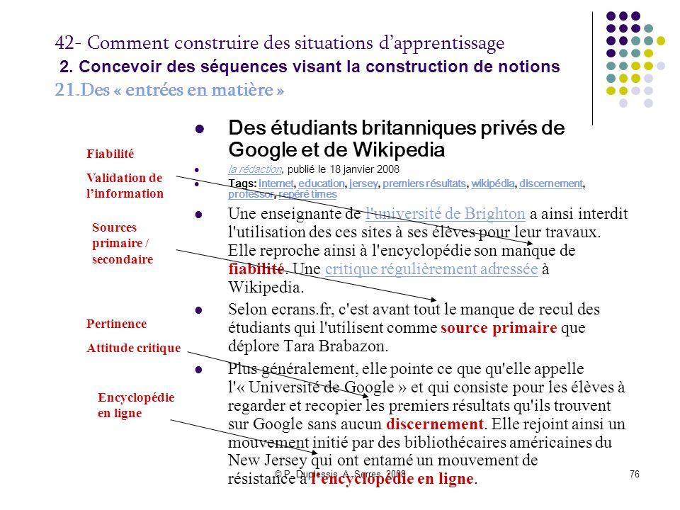 Des étudiants britanniques privés de Google et de Wikipedia