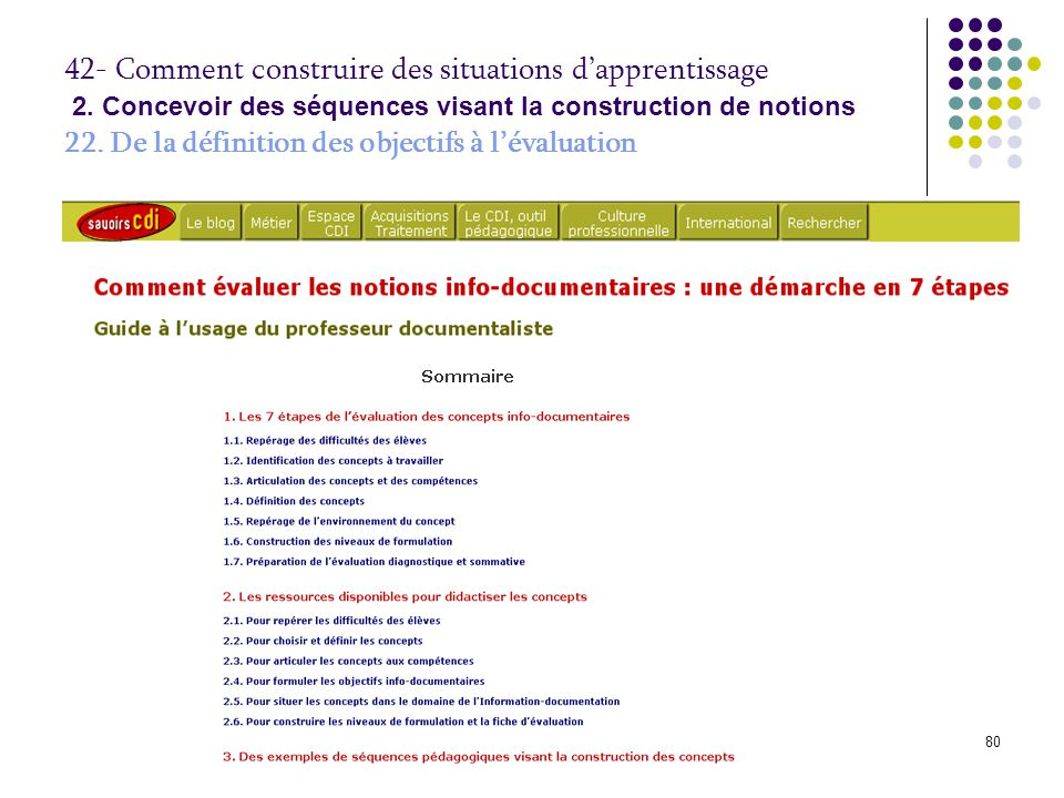 42- Comment construire des situations d'apprentissage 2