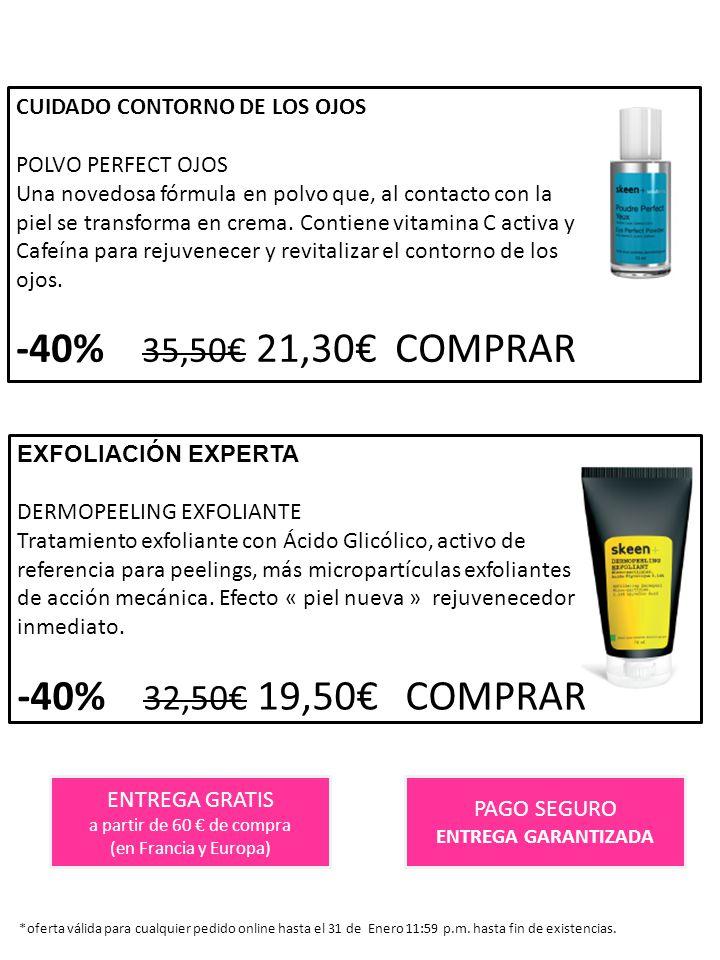 -40% 35,50€ 21,30€ COMPRAR -40% 32,50€ 19,50€ COMPRAR