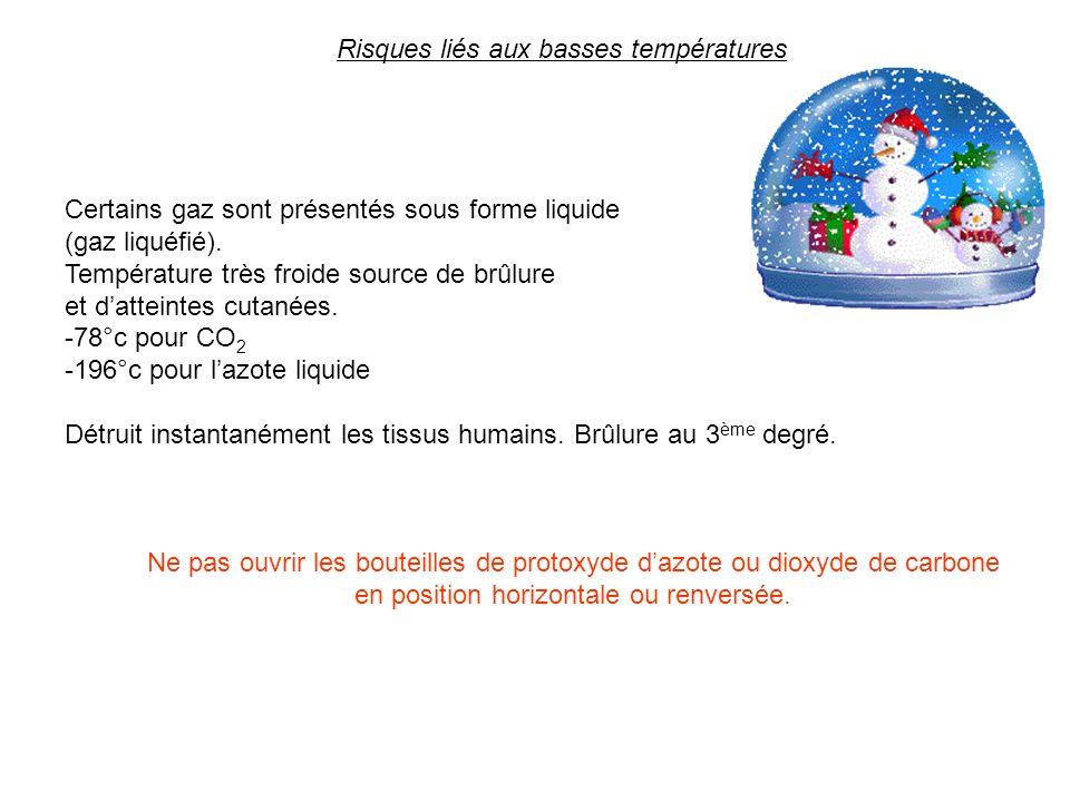Risques liés aux basses températures