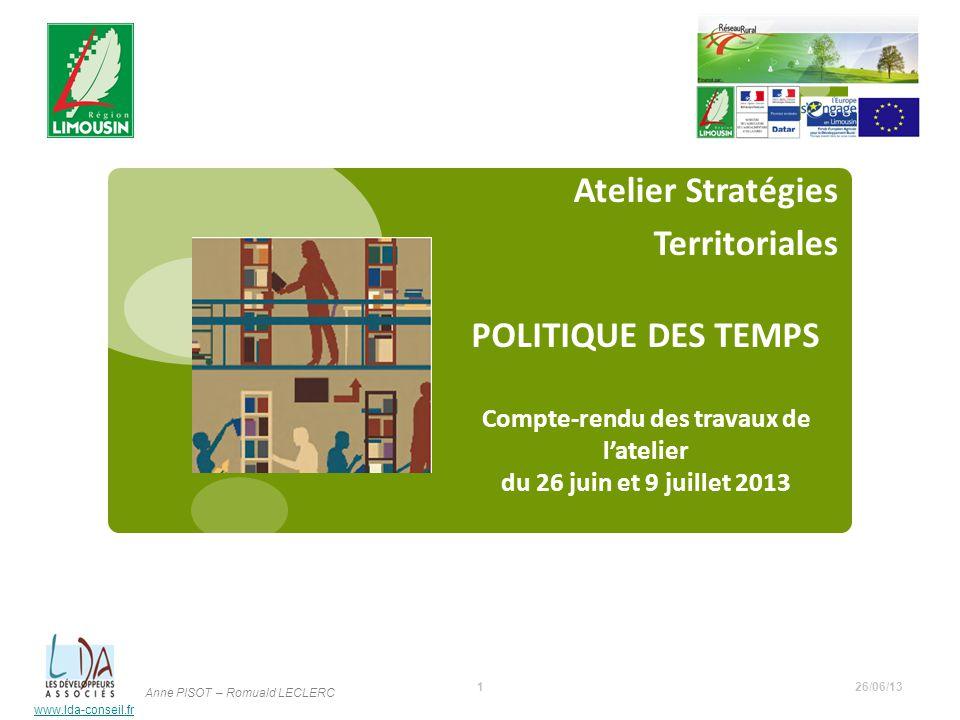 Atelier Stratégies Territoriales