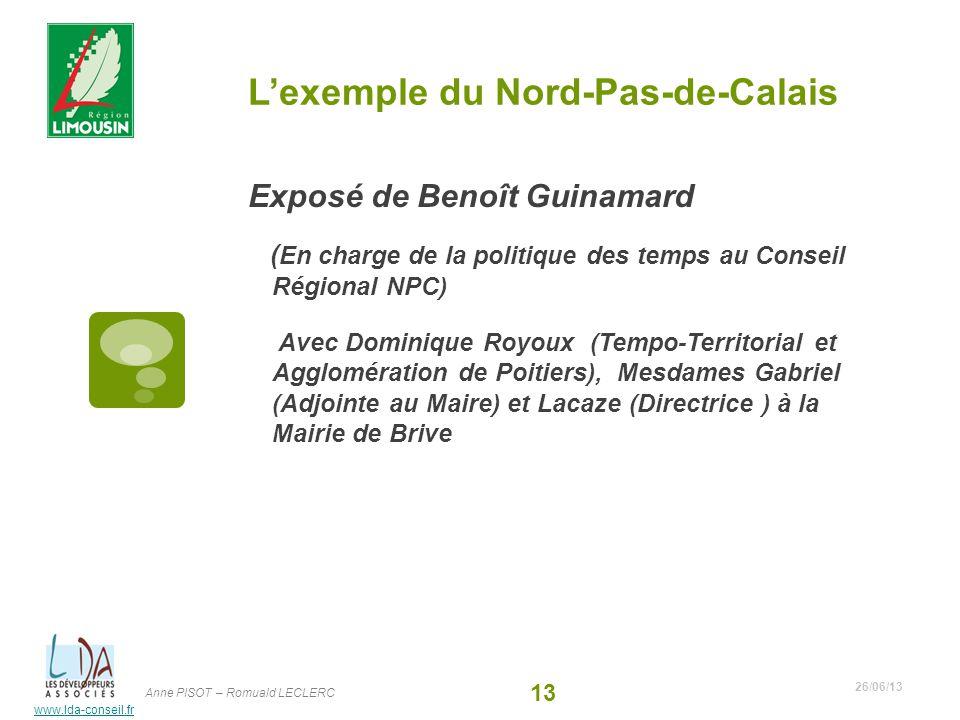 L'exemple du Nord-Pas-de-Calais