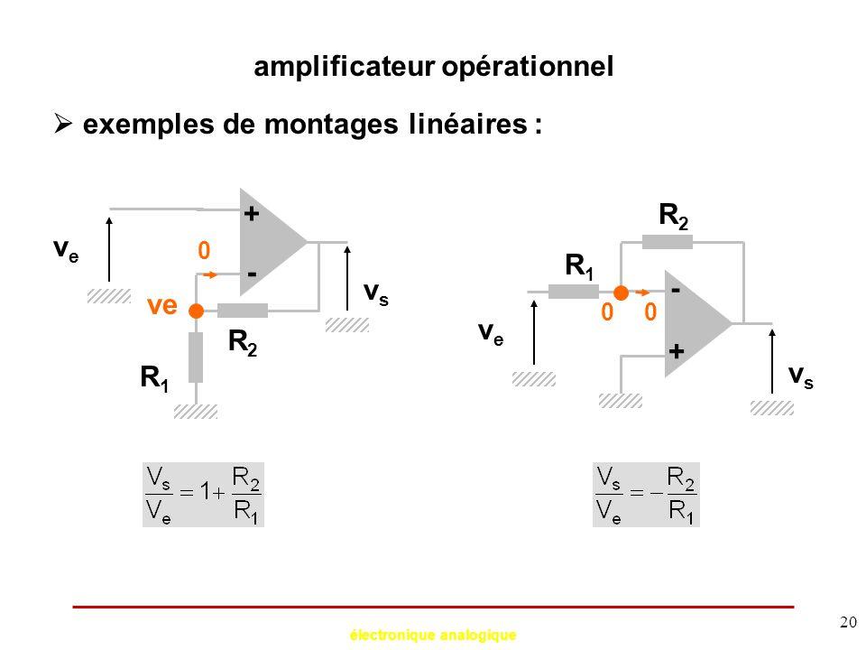 amplificateur opérationnel électronique analogique