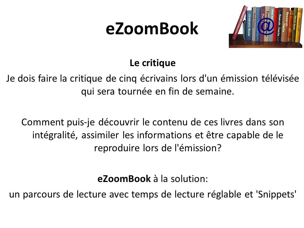 eZoomBook @ Le critique