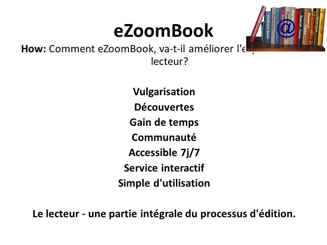 Le lecteur - une partie intégrale du processus d édition.
