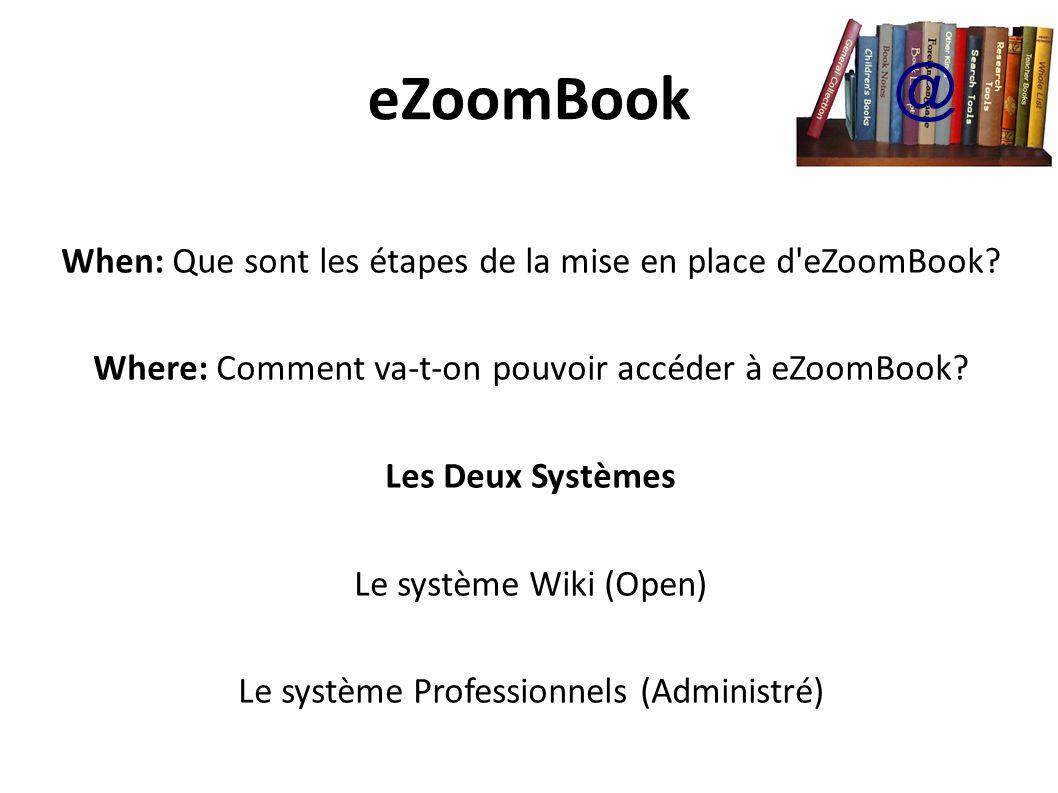 eZoomBook @ When: Que sont les étapes de la mise en place d eZoomBook