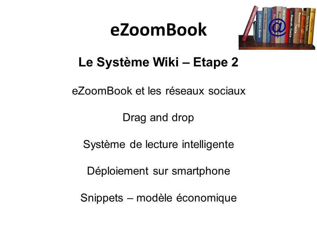 eZoomBook @ Le Système Wiki – Etape 2 eZoomBook et les réseaux sociaux