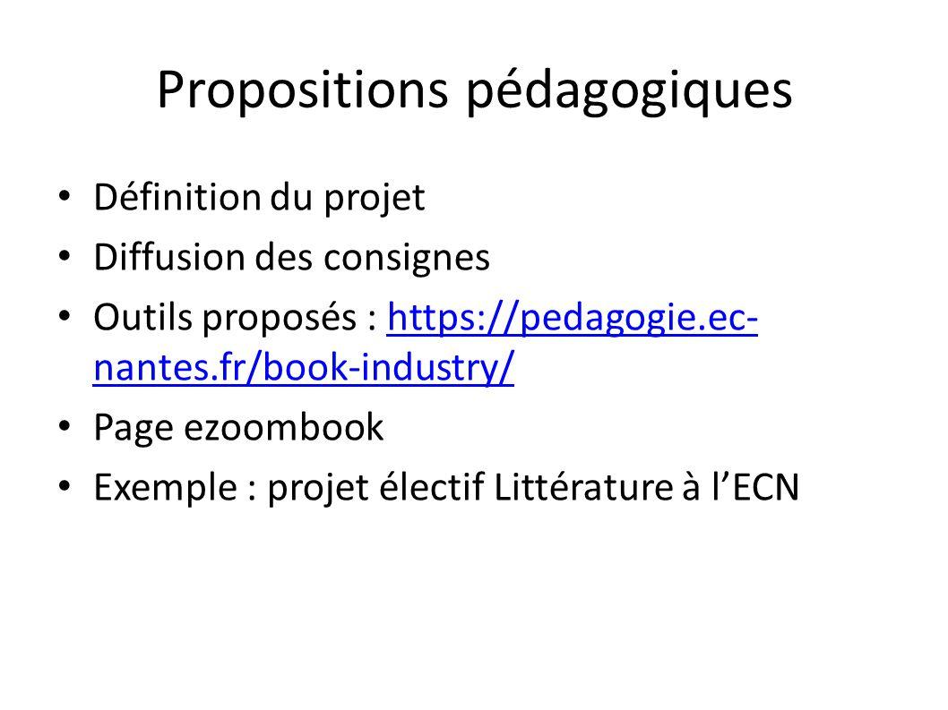 Propositions pédagogiques
