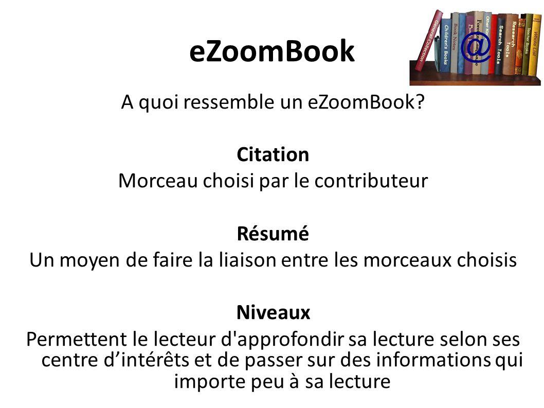 eZoomBook @ A quoi ressemble un eZoomBook Citation
