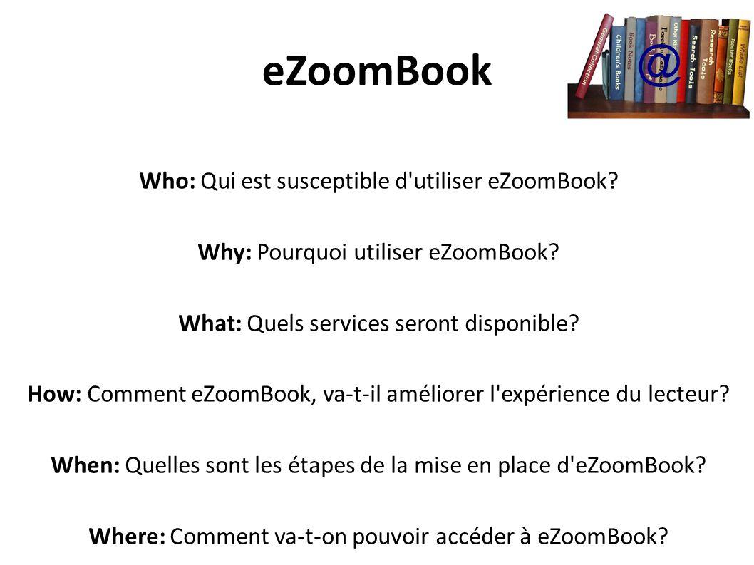 eZoomBook @ Who: Qui est susceptible d utiliser eZoomBook