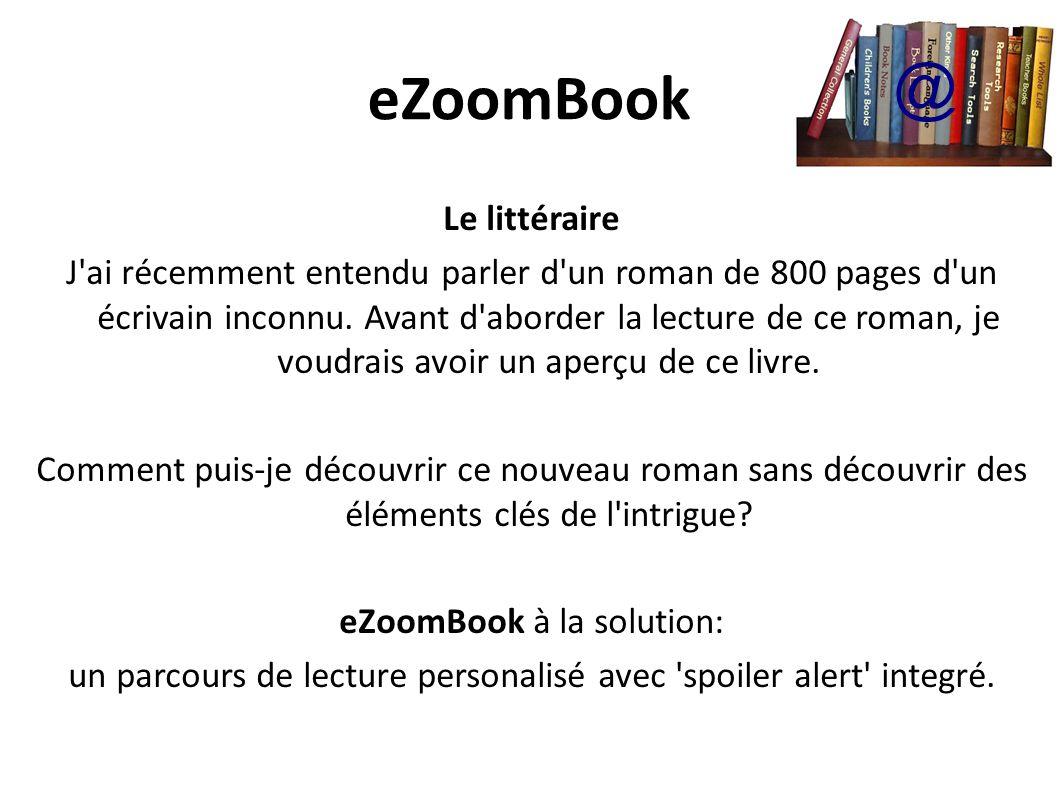 eZoomBook @ Le littéraire