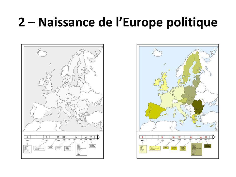 2 – Naissance de l'Europe politique