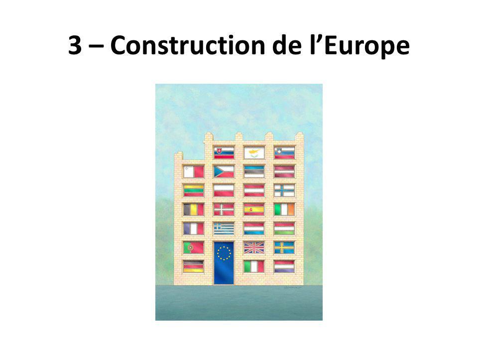 3 – Construction de l'Europe