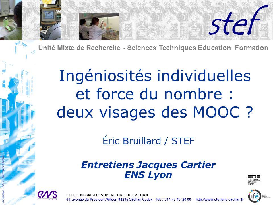 Entretiens Jacques Cartier ENS Lyon