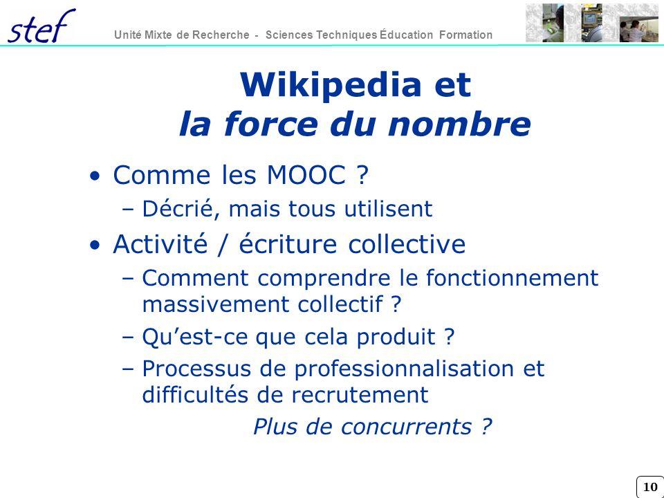 Wikipedia et la force du nombre