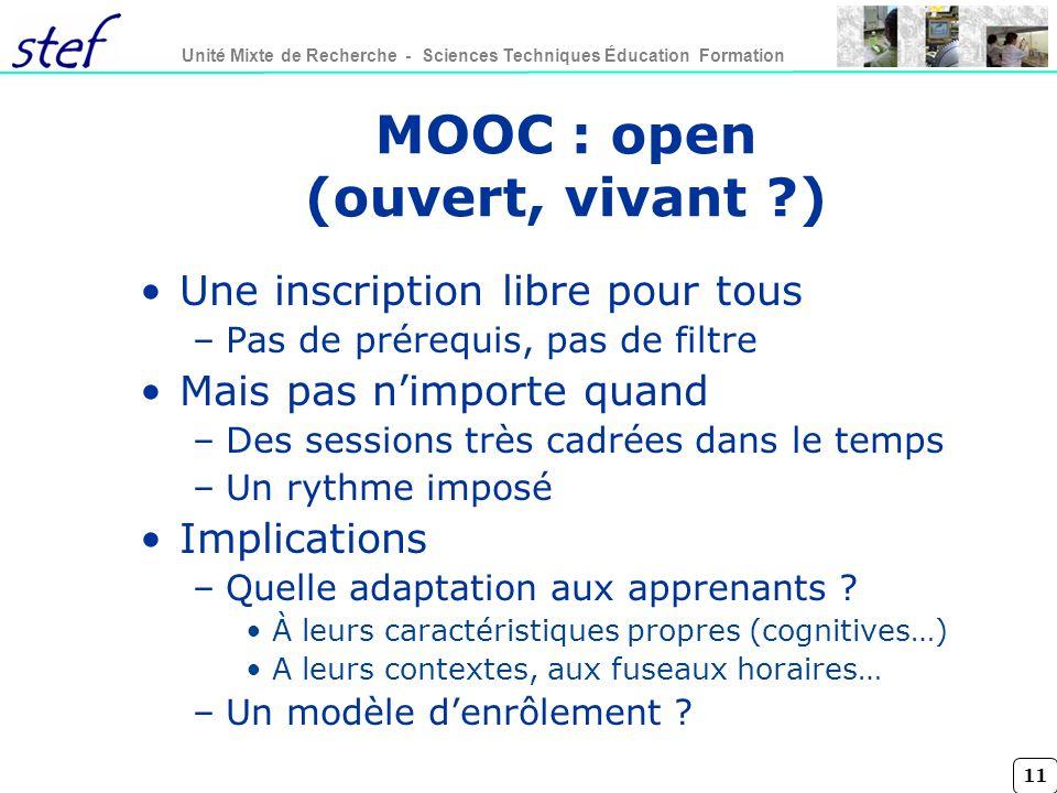 MOOC : open (ouvert, vivant )