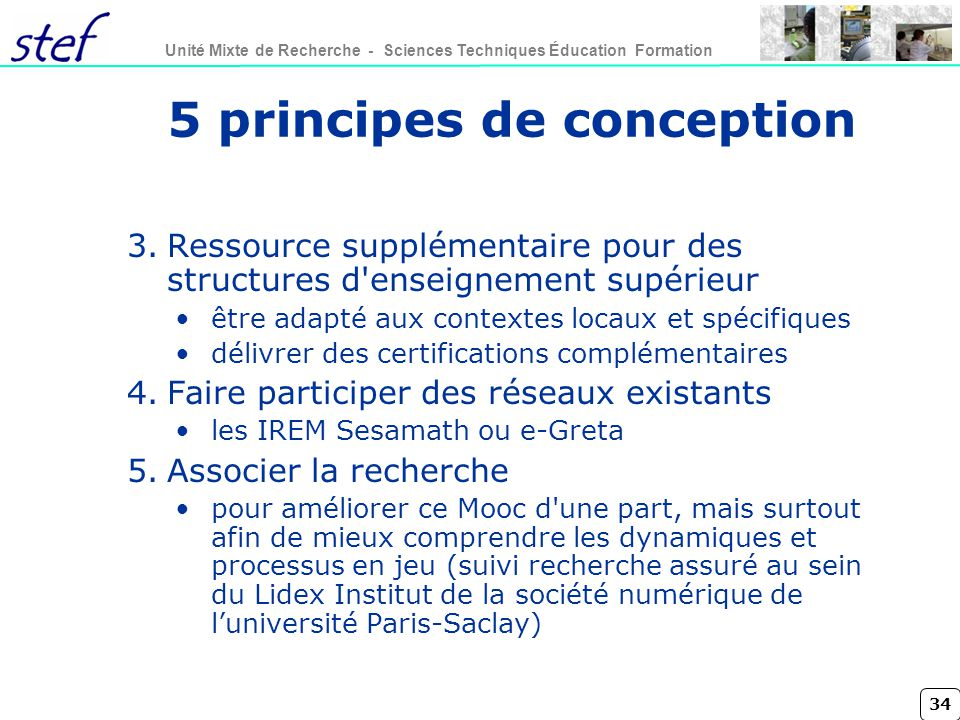 5 principes de conception