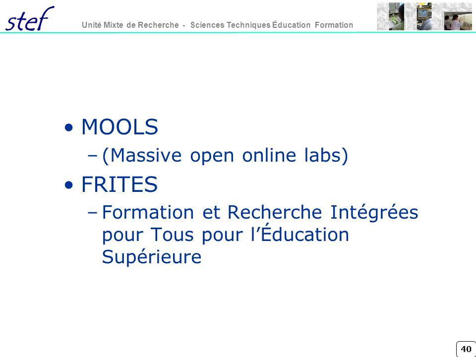 MOOLS FRITES (Massive open online labs)