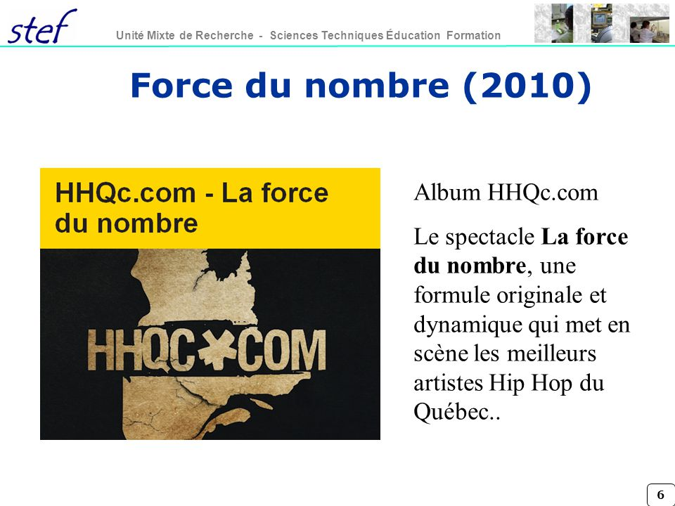 Force du nombre (2010) Album HHQc.com