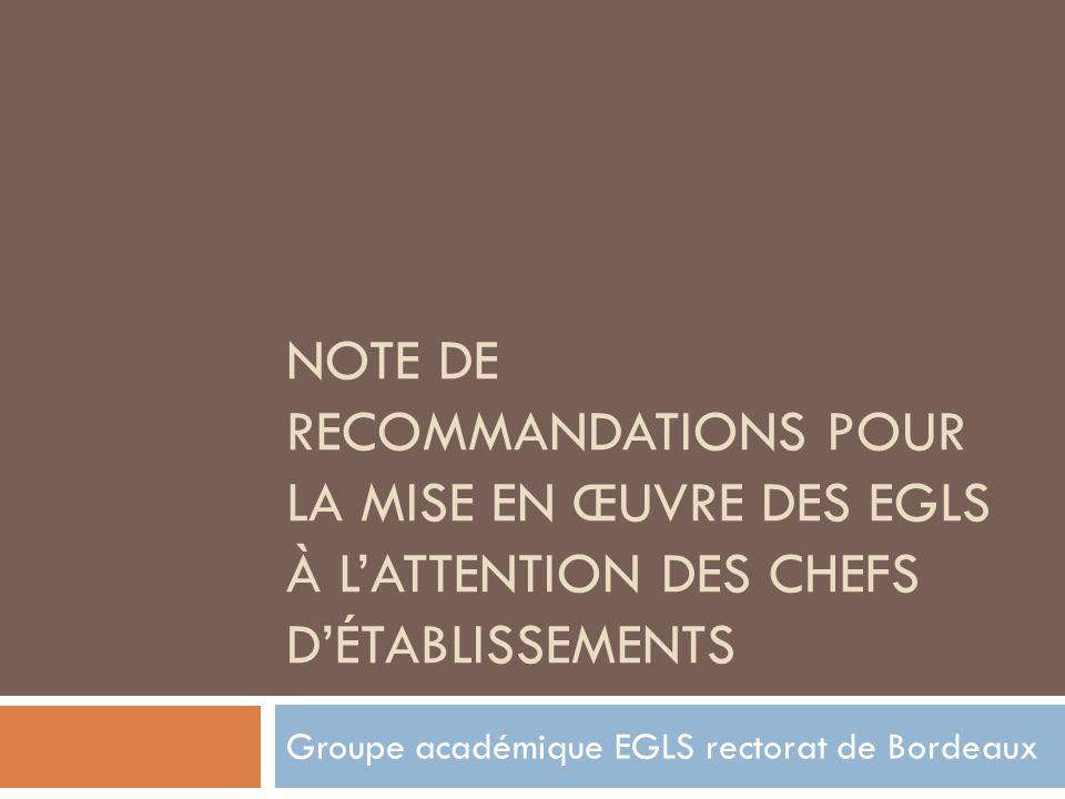 Groupe académique EGLS rectorat de Bordeaux
