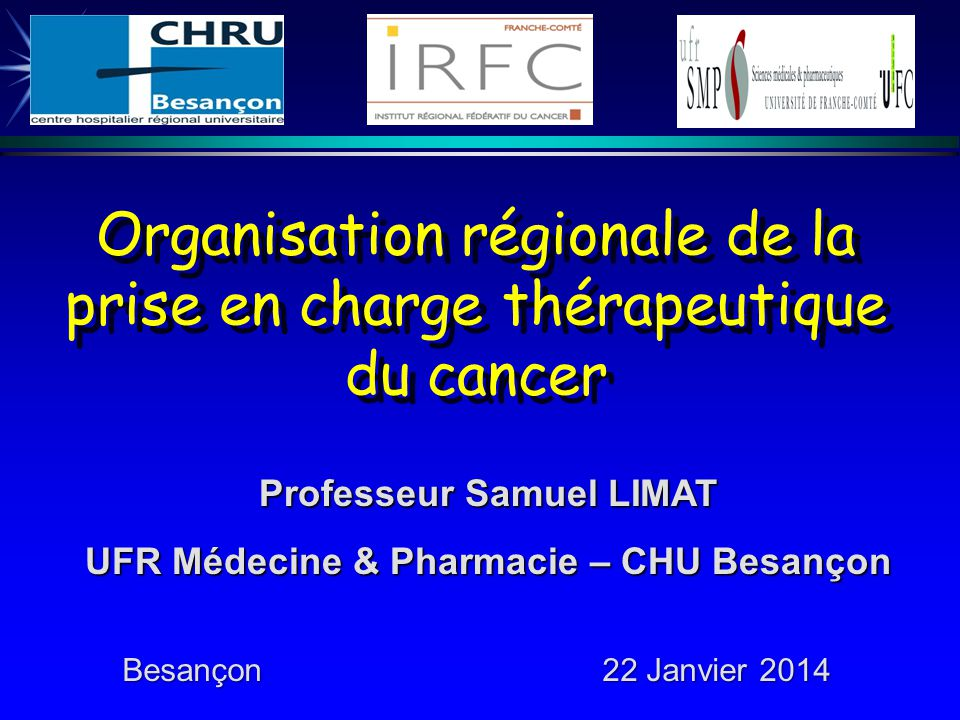 Organisation régionale de la prise en charge thérapeutique du cancer