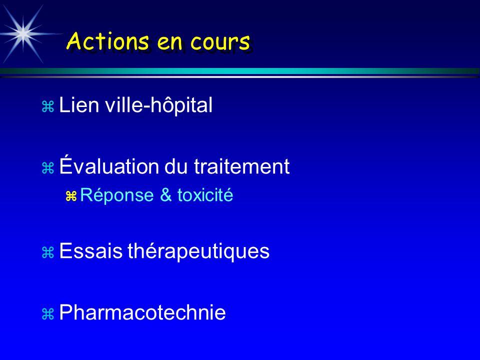 Actions en cours Lien ville-hôpital Évaluation du traitement