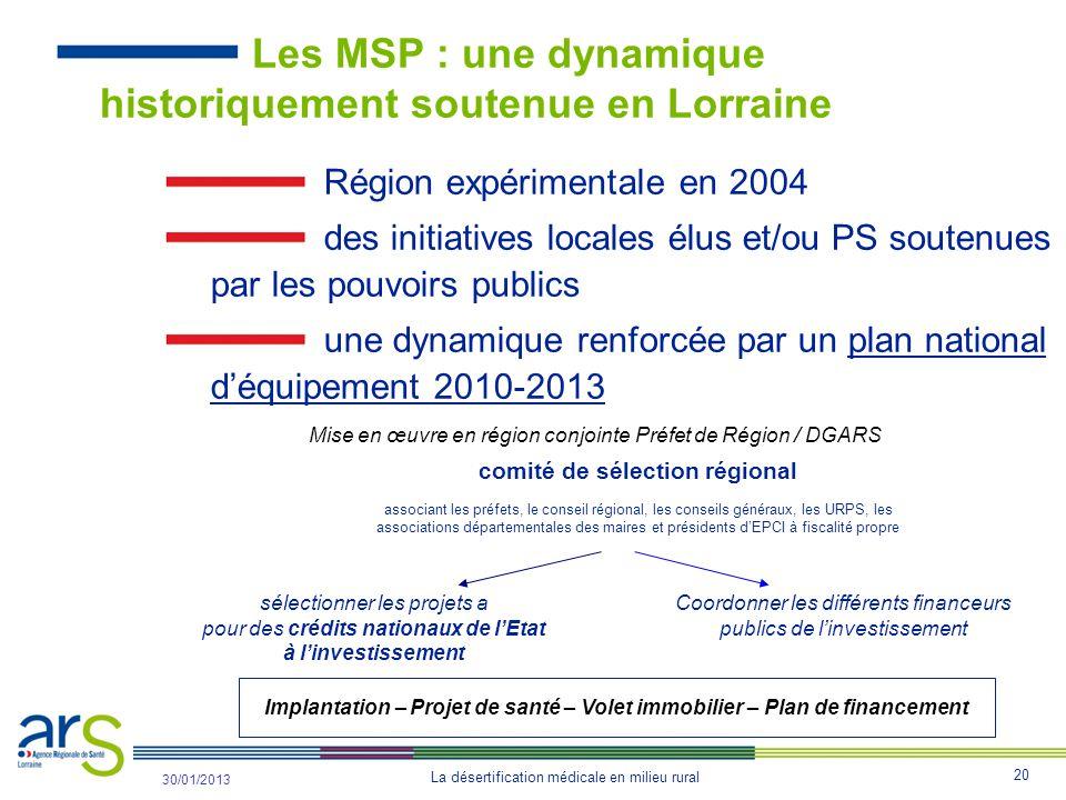Les MSP : une dynamique historiquement soutenue en Lorraine
