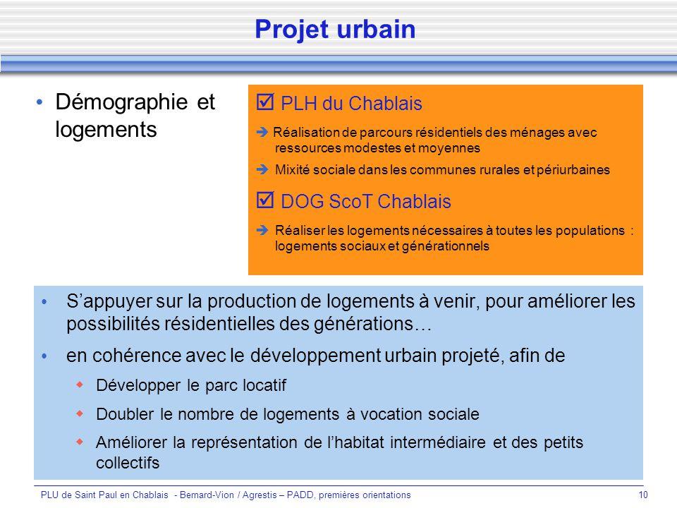 Projet urbain Démographie et logements  PLH du Chablais