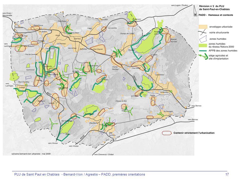 PLU de Saint Paul en Chablais - Bernard-Vion / Agrestis – PADD, premières orientations
