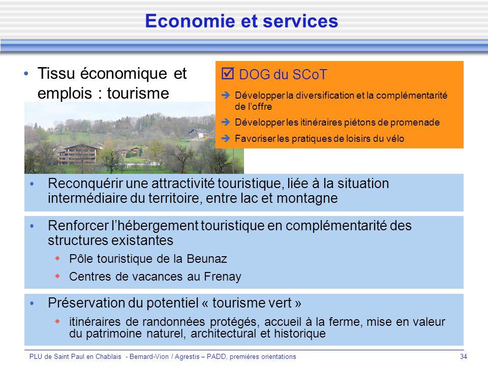 Economie et services Tissu économique et emplois : tourisme