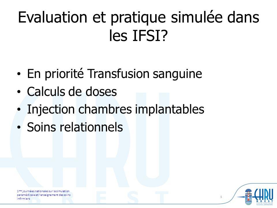 Evaluation et pratique simulée dans les IFSI
